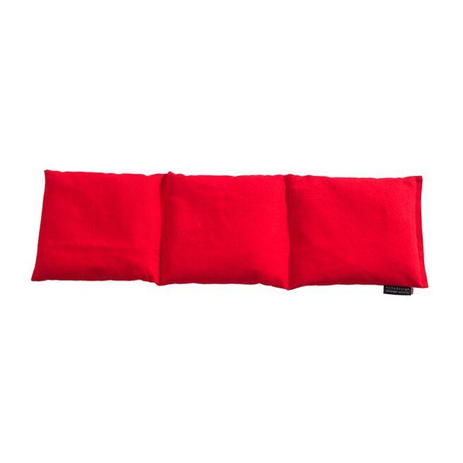 Tredelad värmekudde, röd, 60 x 15 cm