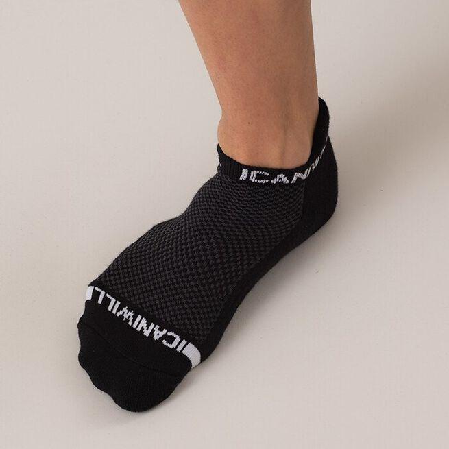 ICIW Perform Unisex Socks 3-pack, Black/White