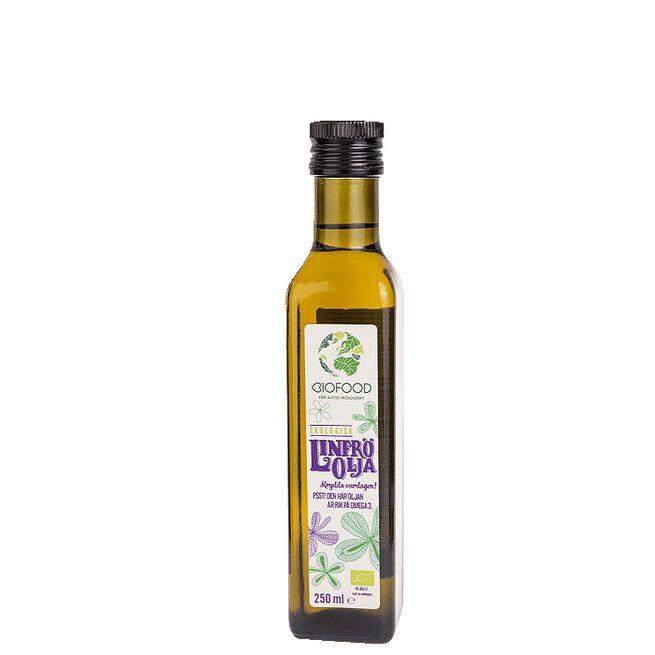 Ekologisk Linfröolja, 250 ml Biofood