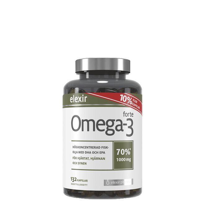 Omega-3 forte 1000 mg, 132 kapsler