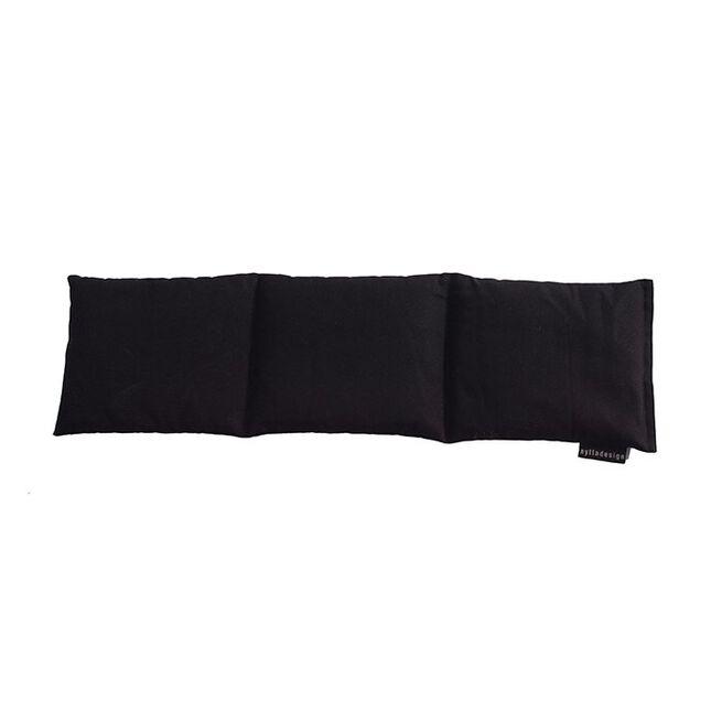 Tredelad värmekudde, svart, 60 x 15 cm