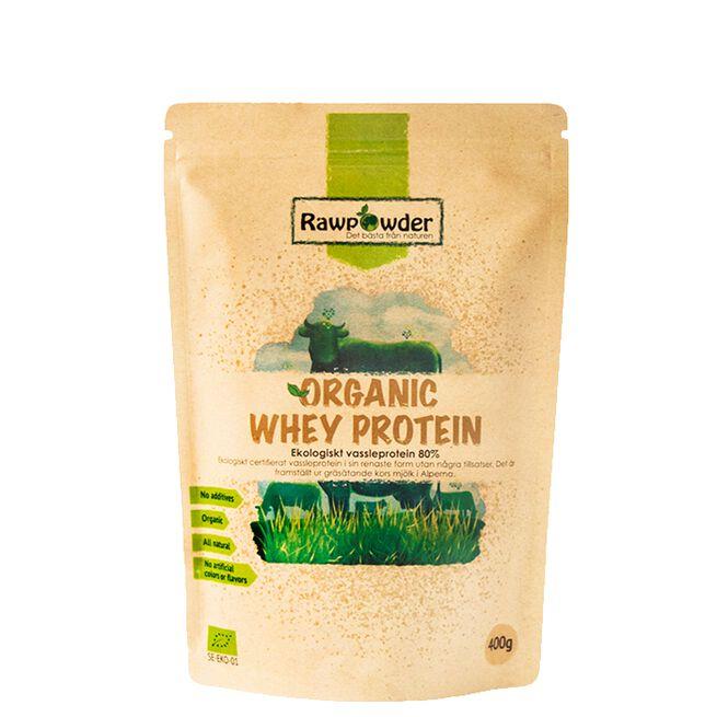 Organic Whey Protein, Myseprotein 80%, 400 g