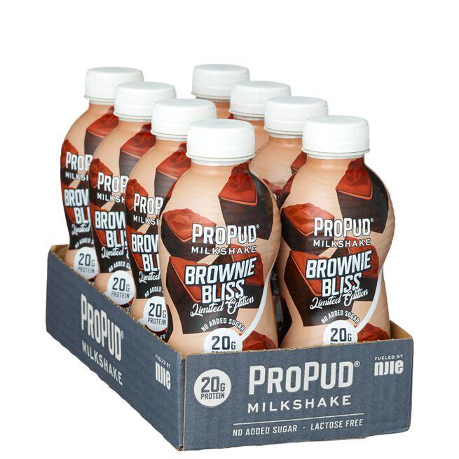 NJIE 8 x ProPud Protein Milkshake, 330 ml, Brownie Bliss